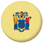 New Jersey State Flag 58mm Mirror Keyring